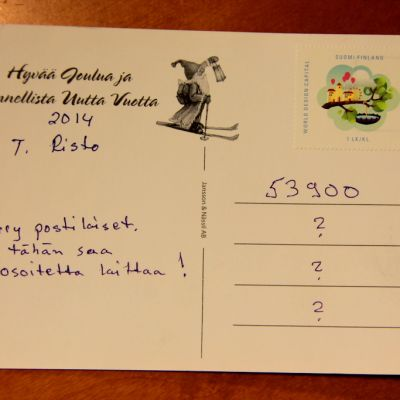 Etelä-Karjalan Radio on testannut marraskuun lopusta asti postin toimivuutta. Pyysimme yleisöä lähettämään mahdollisimman vähäisillä osoitetiedoilla postikortteja toimitukseemme.