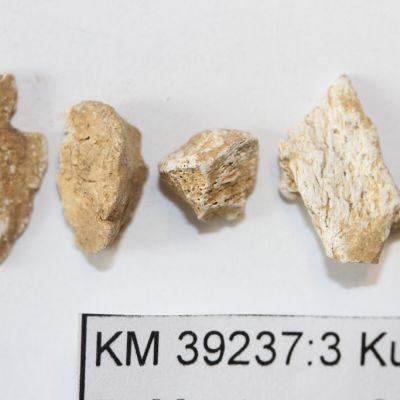 Palaneita kivikautisia luulöytöjä Kuhmon Puhakankankaalta.