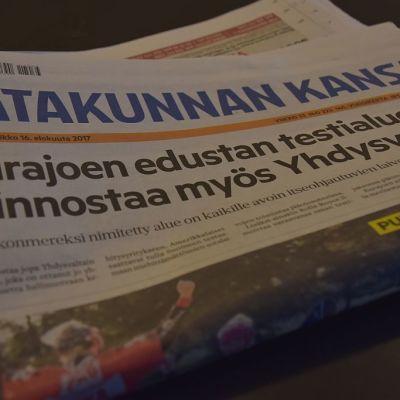 Satakunnan Kansa sanomalehti etusivu lehdistö media AlmaMedia Alma-Media porilainen sanomalehti