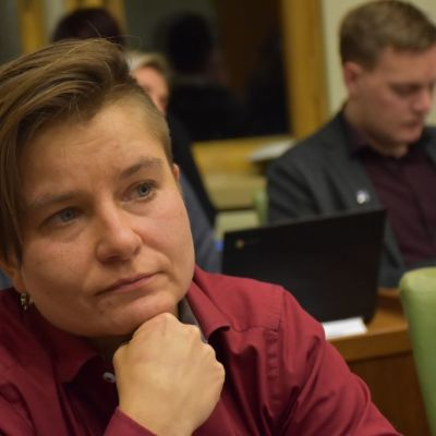 Porin kaupunginvaltuutettu, vasemmistoliiton valtuustoryhmän puheenjohtaja Raisa Ranta.