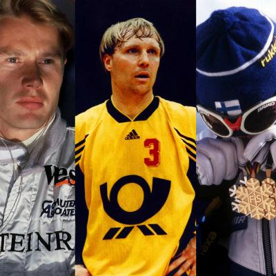 Mika Häkkinen, Mikael Källman, Mika Myllylä och Kyra Kyrklund.