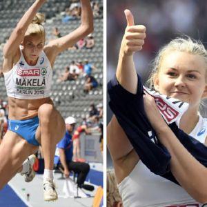 Elmo Lakka, Kristiina Mäkelä och Jenni Kangas i bildcollage.