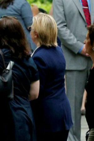 Hillary Clinton lämnade minnesceremonin 9.11.2016 i förtid p.g.a. att hon var sjuk.