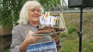 Lena Lagerstam, samordnare i nätverket Kärnkraftsfritt Bottenviken.