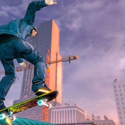 Bild ut spelet Tony Hawk's Pro Skater 5.