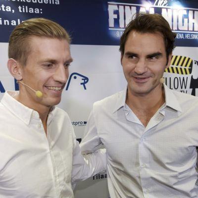Jarkko Nieminen ja Roger Federer