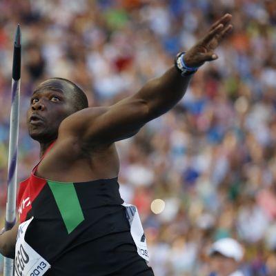 Kenian Julius Yego heittää keihästä