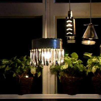 Köksredskap som lampor