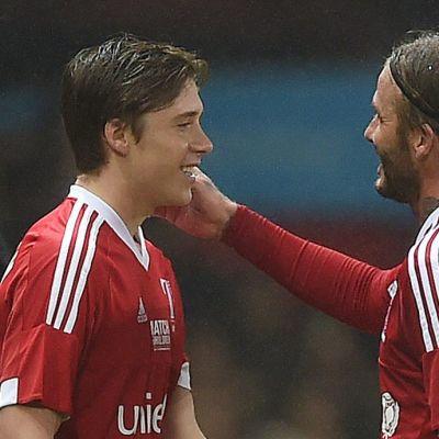 David ja Brooklyn Beckham.