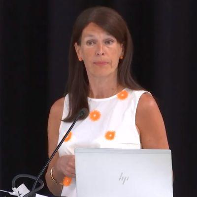SDP:n Porin valtuustoryhmän puheenjohtaja Arja Laulainen.