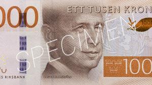 Dag Hammarskjöld pryder 1 000-kronorssedeln