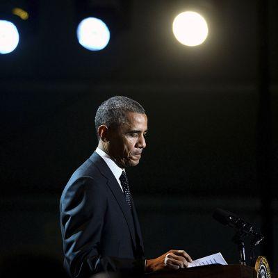 Yhdysvaltain presidentti Barack Obama valokuvattuna  6. maraskuuta Valkoisessa talossa, Washingtonissa.