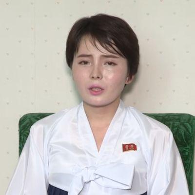 Den sydkoreanska tv-stjärnan Lim Ji-hyun i en nordkoreansk propagandavideo efter misstankar om att hon kidnappats av Nordkorea.