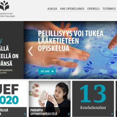Kuvakaappaus Itä-Suomen yliopiston verkkosivuista.