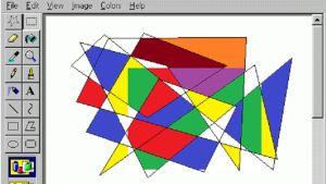 Ett klassiskt konstverk i Microsoft paint