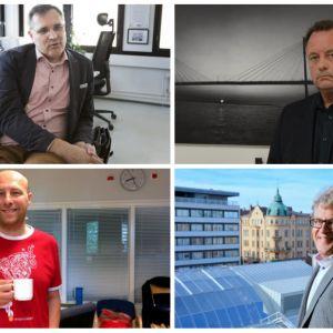 Mikael Pentikäinen, Mikael Fredman, Hippi Hovi och Ingemar Tåg.
