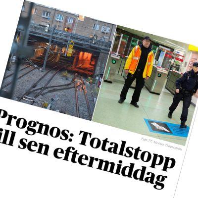 tågolycka i Stockholm