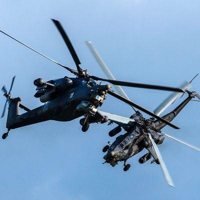 Mi-28 helikoptereita.