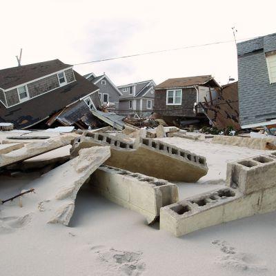 Hurrikaani Sandy teki paljon tuhoa New Jerseyn Seaside Heightsissa.