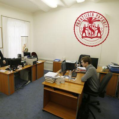 Transparency Internationalin toimisto Moskovassa.
