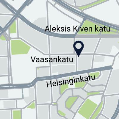 Kranaatti löydettiin Kustaankadun ja Vaasankadun kulmasta kalliossa.