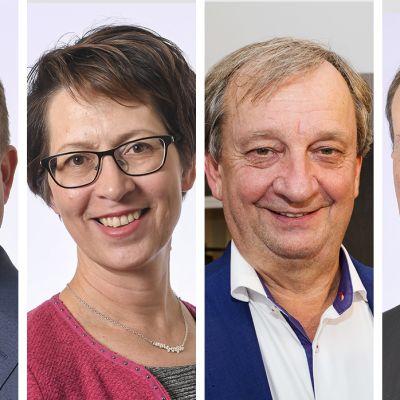 Petteri Orpo, Sari Essayah, Hjallis Harkimo, Jussi Halla-aho.