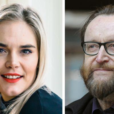 Kuvassa on seksuaaliterapeutti ja tietokirjailija Marja Kihlström sekä tutkimusprofessori Osmo Kontula.