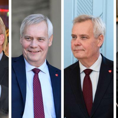 Neljä kuvaa Antti Rinteestä viime vuosilta tähän päivään.