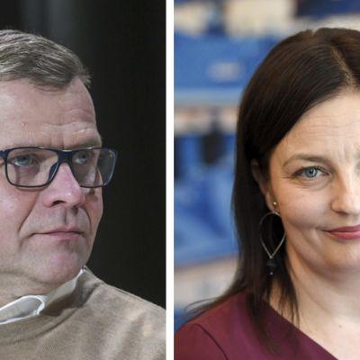 Petteri Orpo ja Kristiina Kokko.