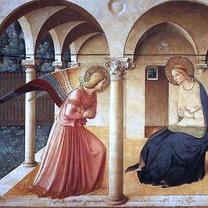 Målning av renässanskonsnären Fra Angelico