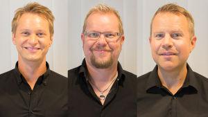 LOVEbandin Jukka Eskola, Aleksi Ahoniemi ja Antti Rissanen.
