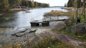Lågt havsvattenstånd hösten 2016.