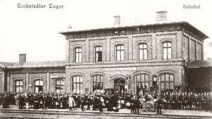 Vykort av tågstationen i Lockstedter Lager