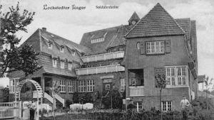 Gammalt vykort av soldathemmet i Lockstedter Lager