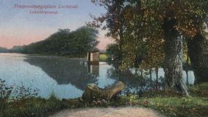 Gammalt vykort av vattenövningsplatsen vid Lohmühle
