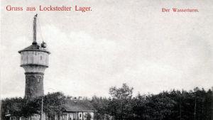 Gammalt vykort av vattentornet i Lockstedter Lager
