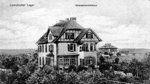 Gammalt vykort av kommendörsvillan i Lockstedter Lager