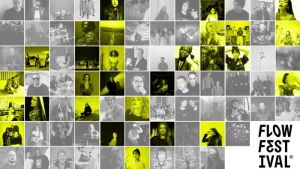 : Nuorgam-lehden kuvituskuvassa Flow-festivaalin naisoletetut artistit korostettuina. Kuvaaja: Arttu Rantakärkkä.