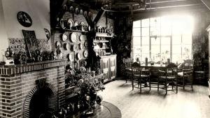 Interiör ur restaurangen Lohmühle i Lockstedter Lager