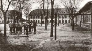 Gammalt vykort av M-barackerna i Lockstedter Lager
