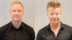 LOVEbandin Kalle Torniainen (vas.) ja Joonas Kasurinen.
