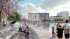 Vision för Åbo salutorg.