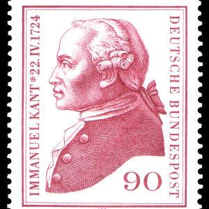 Frimärke av Immanuel Kant