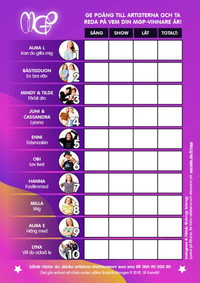 röstningssedel för mgp startfält