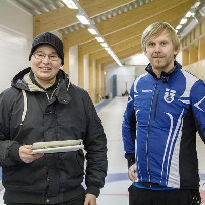 Olli Karkkulainen (vas.) ja Pekka Peura.