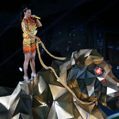 Laulaja Katy Perry puoliaikashow'ssaan.