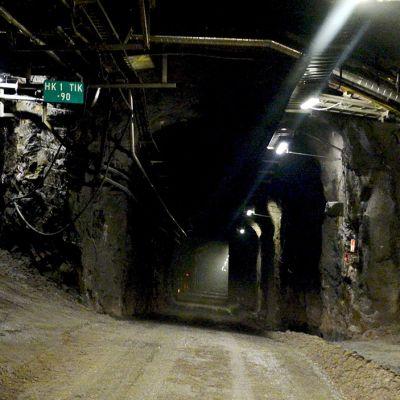 Ydinjätteen loppusijoituksen tutkimustila ONKALO Eurajoen Olkiluodossa.