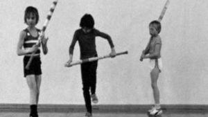 Barn tränar boboll, Yle 1976