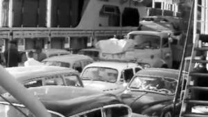 Bilar på bilfärja, 1968