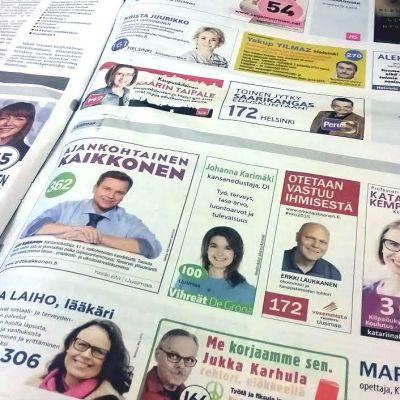 valannonser i Helsingin Sanomat 12.4.2015